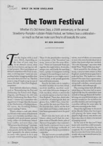 Yankee Mag-The Town Festival p1